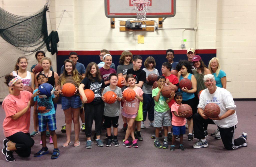 special needs children basketball team
